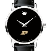 Purdue University Women's Movado Museum with Leather Strap