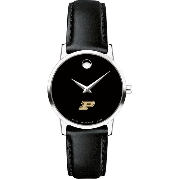 Purdue University Women's Movado Museum with Leather Strap - Image 2