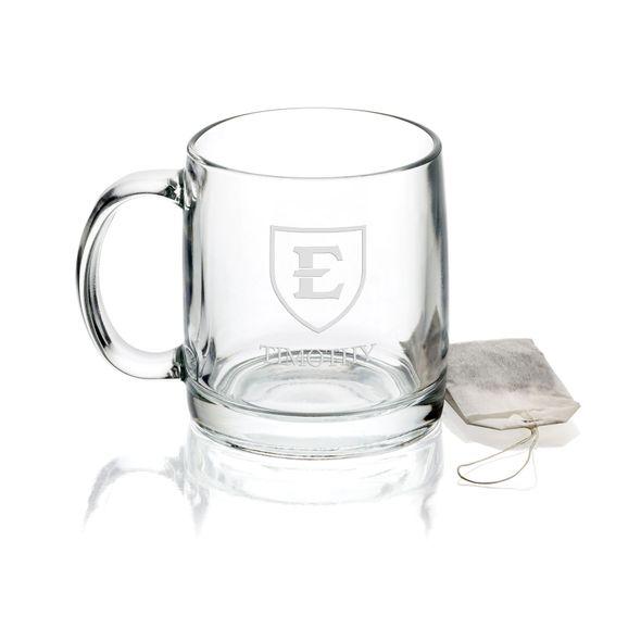 East Tennessee State University 13 oz Glass Coffee Mug