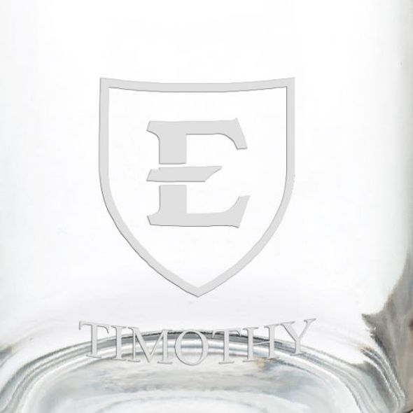 East Tennessee State University 13 oz Glass Coffee Mug - Image 3