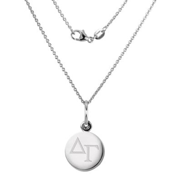 Delta Gamma Sterling Silver Necklace with Silver Charm - Image 1