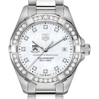 Penn Women's TAG Heuer Steel Aquaracer with MOP Diamond Dial & Diamond Bezel