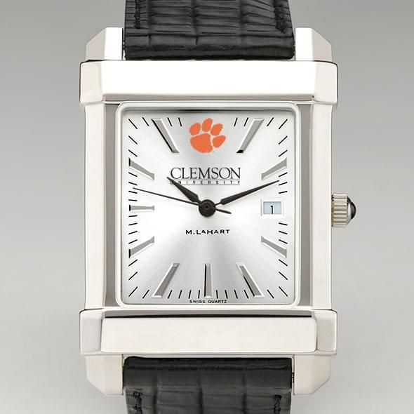Clemson Men's Collegiate Watch with Leather Strap