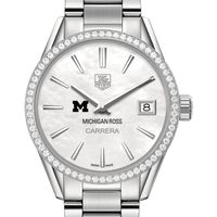 Michigan Ross Women's TAG Heuer Steel Carrera with MOP Dial & Diamond Bezel