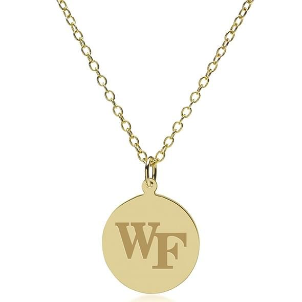 Wake Forest 18K Gold Pendant & Chain - Image 2