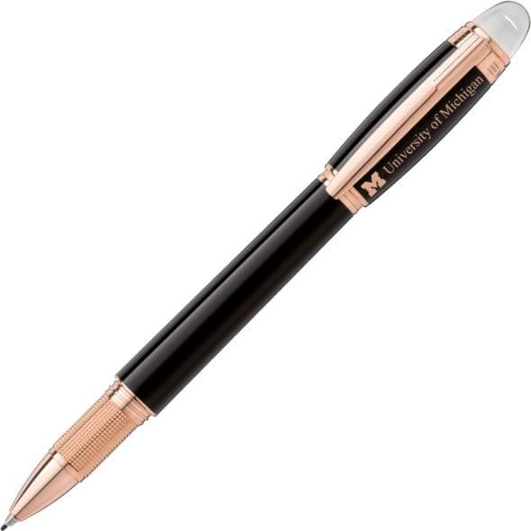 University of Michigan Montblanc StarWalker Fineliner Pen in Red Gold - Image 1