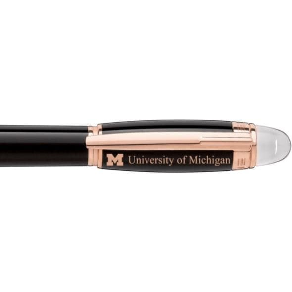 University of Michigan Montblanc StarWalker Fineliner Pen in Red Gold - Image 2