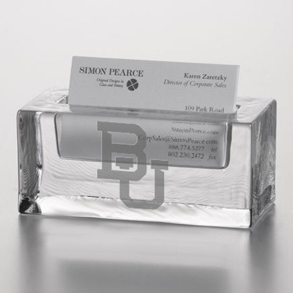 Baylor Glass Business Cardholder by Simon Pearce - Image 2