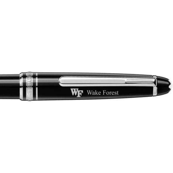 Wake Forest Montblanc Meisterstück Classique Ballpoint Pen in Platinum - Image 2