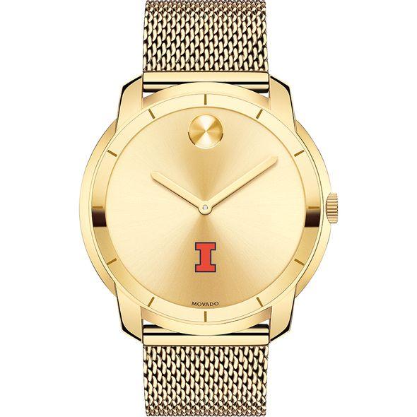 University of Illinois Men's Movado Gold Bold 44 - Image 2