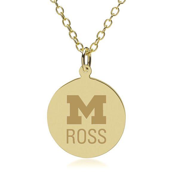 Michigan Ross 18K Gold Pendant & Chain - Image 1