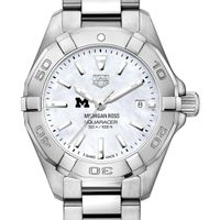 Michigan Ross Women's TAG Heuer Steel Aquaracer w MOP Dial