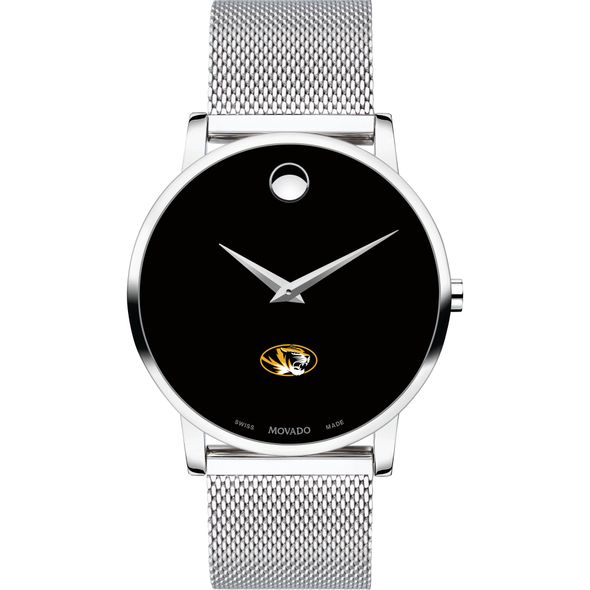 University of Missouri Men's Movado Museum with Mesh Bracelet - Image 2