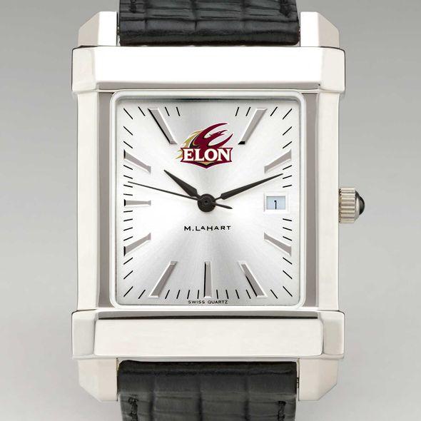 Elon Men's Collegiate Watch with Leather Strap
