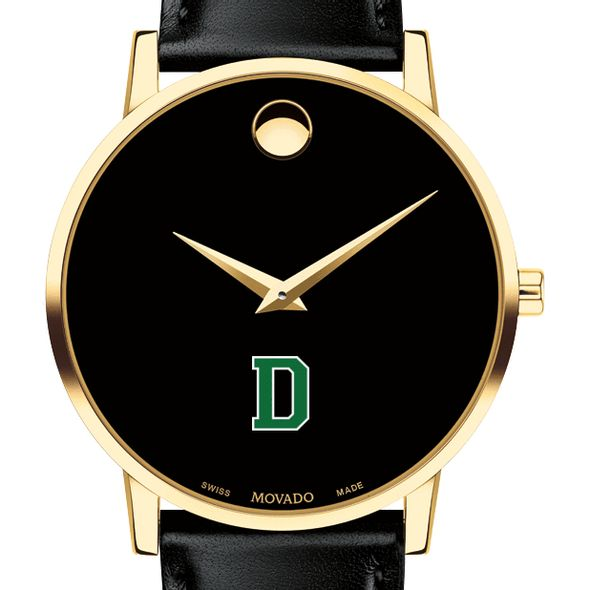 Dartmouth College Men's Movado Gold Museum Classic Leather