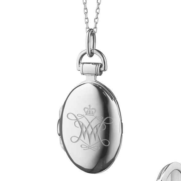 College of William & Mary Monica Rich Kosann Petite Locket in Silver - Image 2