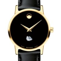 Gonzaga Women's Movado Gold Museum Classic Leather