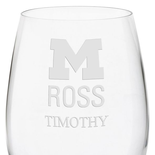 Michigan Ross Red Wine Glasses - Set of 4 - Image 3