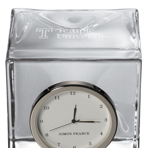 Temple Glass Desk Clock by Simon Pearce - Image 2