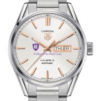 Holy Cross Men's TAG Heuer Day/Date Carrera with Silver Dial & Bracelet