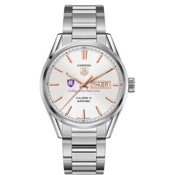 Holy Cross Men's TAG Heuer Day/Date Carrera with Silver Dial & Bracelet - Image 2