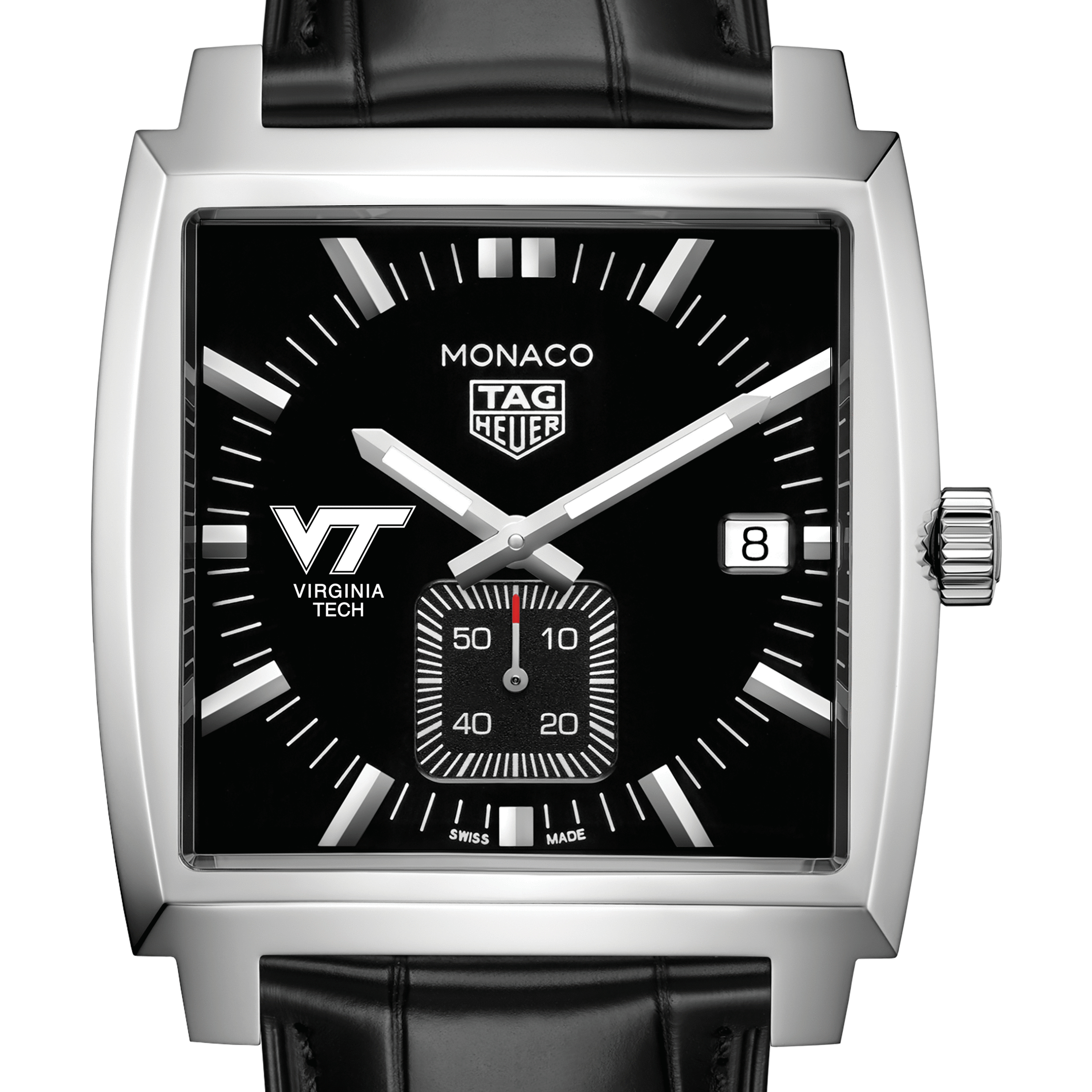 Virginia Tech TAG Heuer Monaco with Quartz Movement for Men