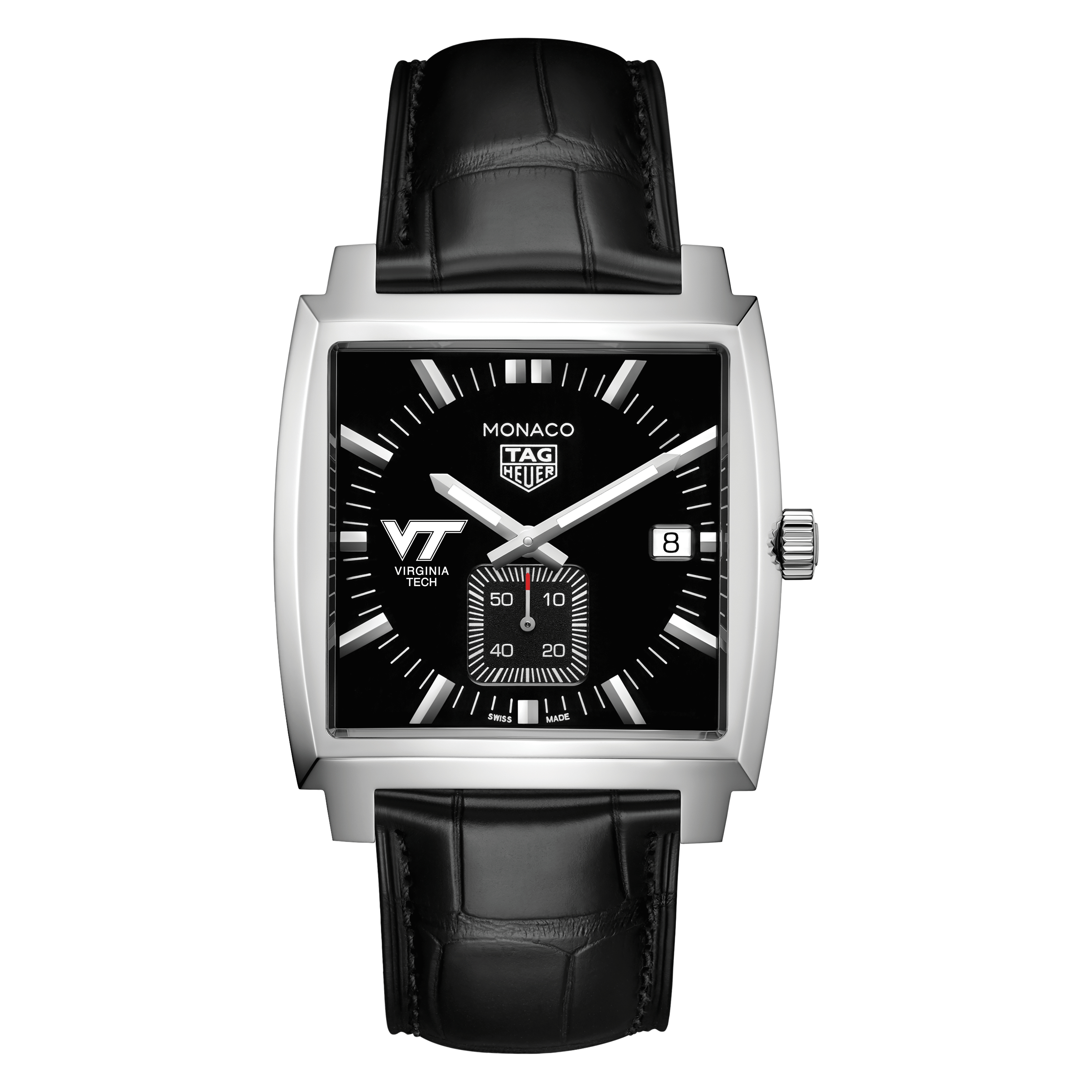 Virginia Tech TAG Heuer Monaco with Quartz Movement for Men - Image 2