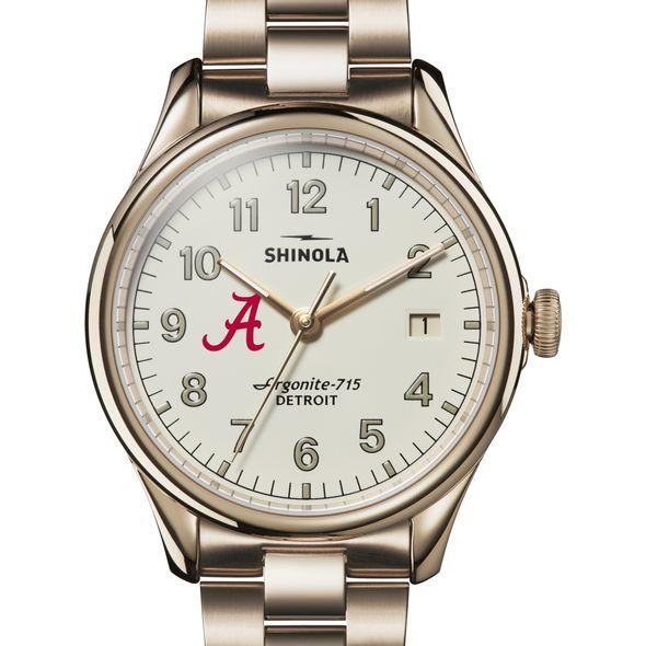 Alabama Shinola Watch, The Vinton 38mm Ivory Dial