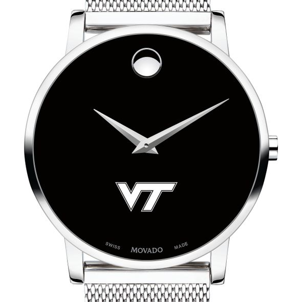 Virginia Tech Men's Movado Museum with Mesh Bracelet - Image 1