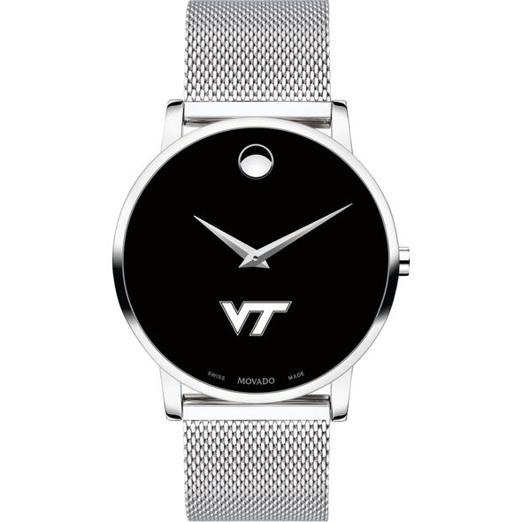 Virginia Tech Men's Movado Museum with Mesh Bracelet - Image 2