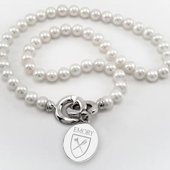 Emory Pearl Necklace with Sterling Silver Charm