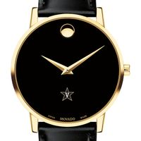 Vanderbilt Men's Movado Gold Museum Classic Leather