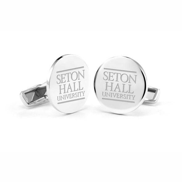Seton Hall Cufflinks in Sterling Silver - Image 1