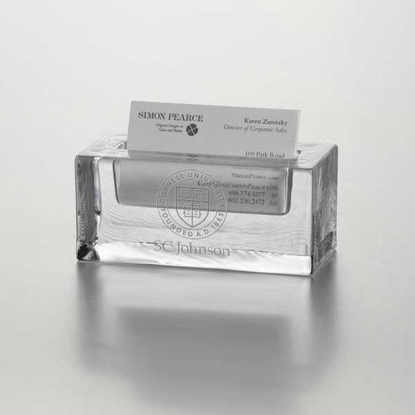 SC Johnson College Glass Business Cardholder by Simon Pearce