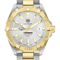 University of Arkansas Men's TAG Heuer Two-Tone Aquaracer