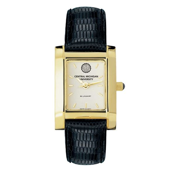 Central Michigan Women's Gold Quad with Leather Strap - Image 2