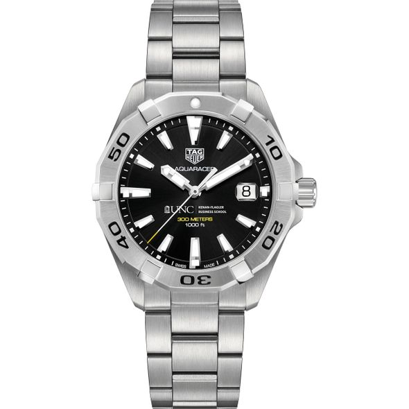 UNC Kenan-Flagler Men's TAG Heuer Steel Aquaracer with Black Dial - Image 2