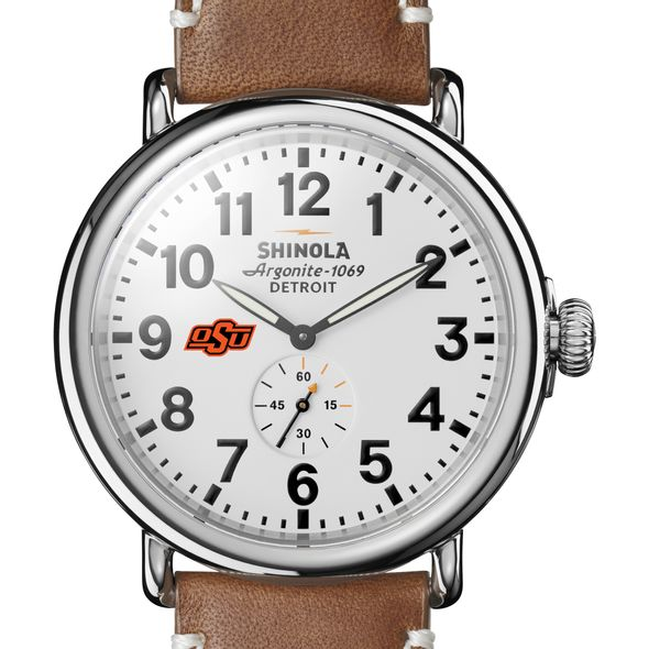 Oklahoma State Shinola Watch, The Runwell 47mm White Dial