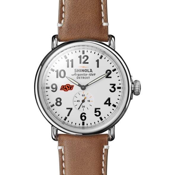 Oklahoma State Shinola Watch, The Runwell 47mm White Dial - Image 2