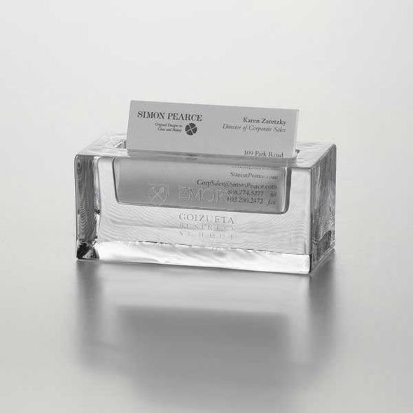 Emory Goizueta Glass Business Cardholder by Simon Pearce - Image 1