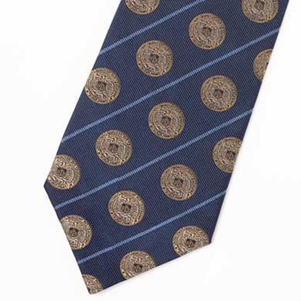 Merchant Marine Academy Insignia Tie in Navy Blue - Image 1