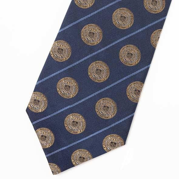 Merchant Marine Academy Insignia Tie in Navy Blue - Image 2