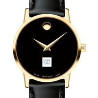 Duke Fuqua Women's Movado Gold Museum Classic Leather