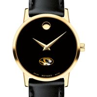 University of Missouri Women's Movado Gold Museum Classic Leather