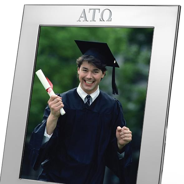Alpha Tau Omega Polished Pewter 8x10 Picture Frame - Image 2