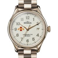 Iowa State Shinola Watch, The Vinton 38mm Ivory Dial