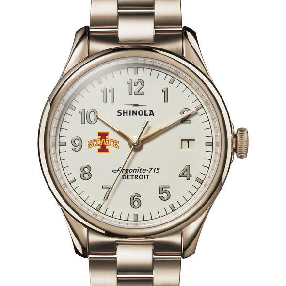 Iowa State Shinola Watch, The Vinton 38mm Ivory Dial