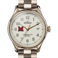 Miami University Shinola Watch, The Vinton 38mm Ivory Dial