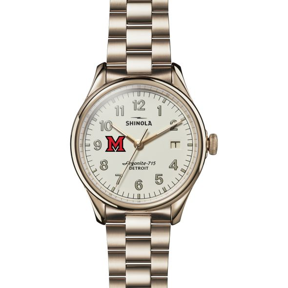Miami University Shinola Watch, The Vinton 38mm Ivory Dial - Image 2