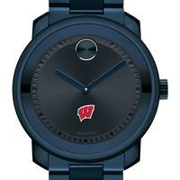 University of Wisconsin Men's Movado BOLD Blue Ion with Bracelet